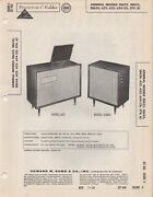1959 Admiral Ss622 Console service Manual Photofact Ss623 Ss624 622 623 624 5t4