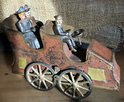 Vintage D.p. Clark American Hill Climber Touring Car Friction Toy Cast Iron