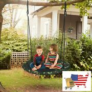 40 Flying Saucer Tree Swing Outdoor Play Set With Adjustable Ropes Gift For Kid