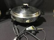 Americraft Kitchen Craft E23049 Stainless Steel 900w Electric Skillet Rf1012