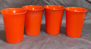 4 Vintage Tupperware Sippy Cup Tumblers 109 No Lids Included