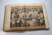 1920's-1930's Home Made Baseball Scrap Book - Ruth/gehrig News Paper Clips 924