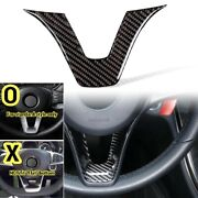 Real Carbon Fiber Standard Steering Wheel Lower Trim Cover For 15-18 W205 C300