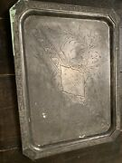 Rare Unknown Large Silver Plated Victorian Tray Historical Warner Babcock