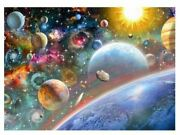 5d Diamond Painting Kit Full Drill Round Solar System Space Planets Beatles Sun