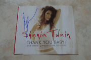 Shania Twain Autogramm Signed Cd-cover Thank You Baby