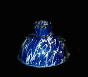 Early Cobalt Blue And White Swirl Graniteware Canning Funnel Enamel Ware