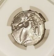 Sicily Siculo-punic Tetradrachm Ngc Au Ancient Silver Coin