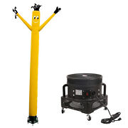 Mounto 20ft Yellow Wind Fly Dancer Dancing Sky Puppet With Blower Combo Set