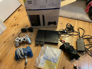 Sony Playstation 2 Slim W Original Box 3 Controllers 2 Memory Cards 4 Games Mint