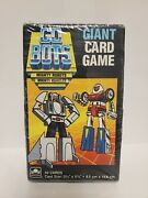 1985 Vintage Sealed Go Bots - Giant Card Game Mighty Robots