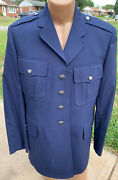 Vintage Military Dress Jacket Navy Blue Coat Menand039s Size 43 L Theater Costume