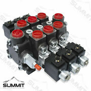 Hydraulic Solenoid Directional Control Valve Double Acting 3 Spool 27 Gpm