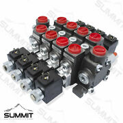 Hydraulic Solenoid Directional Control Valve Double Acting 4 Spool 27 Gpm