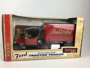 Ertl True Value Hardware 1918 Ford Tractor Trailer Bank 19127 125 Scale New