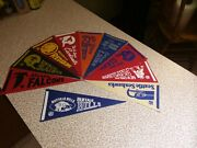 Lot Of 10 1960's Nfl Football Pennants 9 Rare Ones