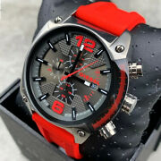 Diesel Overflow Stainless Steel Chronograph Menand039s Watch Dz4481 Ships Today