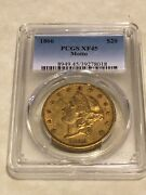 1866 Xf45 Pcgs 20 Liberty Double Eagle Gold Coin Good Strike Coin Rarer Date