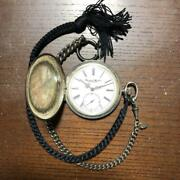 Pocket Watch Swiss Made Sterling Silver Used Excellent Vintage Rare