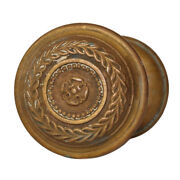 Antique Bronze Doorknob Set By Russell And Erwin, C. 1905, Ndk229