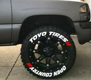 Tire Letters 1.50 Toyo Tires Open Countrywhite All/mud Terrain Lifted Trucks