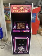 New Purple Ms. Pacman Arcade Machine Upgraded To Play 412 Games