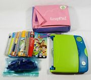 Leap Frog Leappad Learning System W/ 18 Books And 18 Cartridges Case With Bag