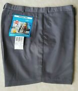 King Gee Work Shorts Size 97cm Grey Drill Permanent Press Style 0713