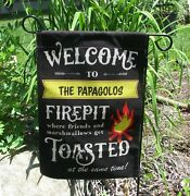 Personalized Camping Yard Flag Welcome To Our Fire Pit Flag Free Shipping