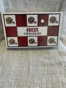 Vtg 1993 San Francisco 49ers Nfl Checkers Game Factory Sealed