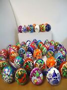 Lot Of 10 New Hand Painted Russian Easter Eggs Made In Russia Bulk Price