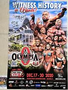 2020 Mr Olympia Official Poster Signed By All The Winners Jsa Coa Big Ramy +8