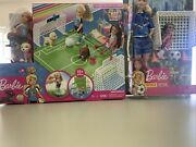 Barbie Soccer Coach Playset And Chelsea Doll With Soccer Playset Lot