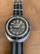 Vintage Zodiac Super Sea Wolf Date 70and039s Vintage Auto Watch
