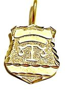 14k Yellow Gold Scales Of Justice Law Charm Pendant