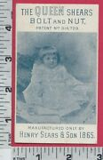 2838 Henry Sears And Son Scissors Queen Shears Trade Card J. B. Roy Baby Picture