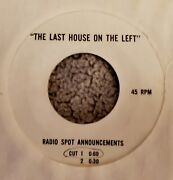 1972 Last House On The Left Wes Craven Horror Movie Radio Spot Adverstising 45