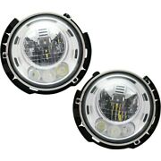 Headlights Lamps Set Of 2 Left-and-right 68366024aa 68366025aa Lh And Rh Pair