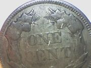 1857 Flying Eagle Cent Rpd Obverse Die Clash With 25c Reverse Vf/xf Rare
