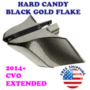 Hard Candy Black Gold Flake Cvo Stretched Side Cover Fit 2014+ Harley Touring