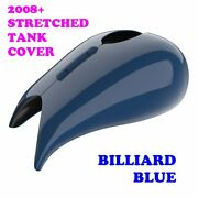 Billiard Blue Stretched Tank Cover For Harley 2008-20 Street Glide And Road Glide