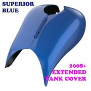Superior Blue Stretched Tank Cover For Harley 2008-2020 Street Glide Androad Glide