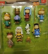 Peanuts Charlie Brown Christmas Nativity Pageant Play Set-9 Mini Figures