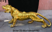 43.2 Huge China Copper Brass Feng Shui Zodiac Year Animal Tiger Wealth Statue