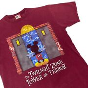 Vintage 90s Disney The Twilight Zone Tower Of Terror T Shirt Size Large