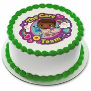 Doc Mcstuffins Team Care 7.5 Inches Round Edible Cake To
