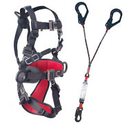 Electrical Safety Harness Insulated Fall Arrester With Energy Absorber Y Lanyard