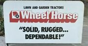 Rare1980wheel Horse Mower/tractor Dealer Display Sign 30x16antigue Vintage Old