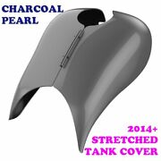 Charcoal Pearl Stretched Tank Cover For Harley 2008-2020 Street Road Glide