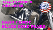 Hard Candy Black Gold Stretch Extend Side Cover Panel Fit 2014+ Harley Touring